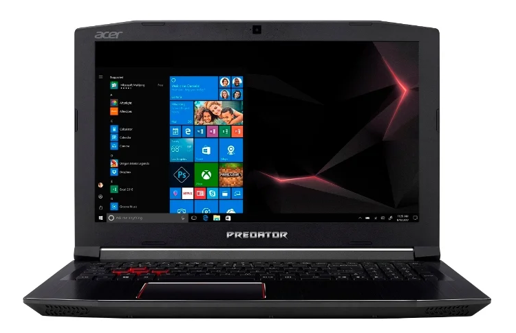 "Acer Predator Helios 300 (Ph415-51-58AX) (Intel Core i5 8300H 2300 MHz/15.6""/1920x1080/16GB/1128GB HDD+SSD/DVD нет/NVIDIA GeForce GTX 1060/Wi-Fi/Bluetooth/Linux) для игр"