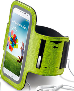 Cellular Line Armband Running Lime